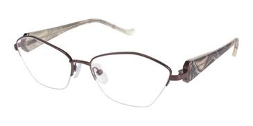 Brown Tura R545 Eyeglasses.