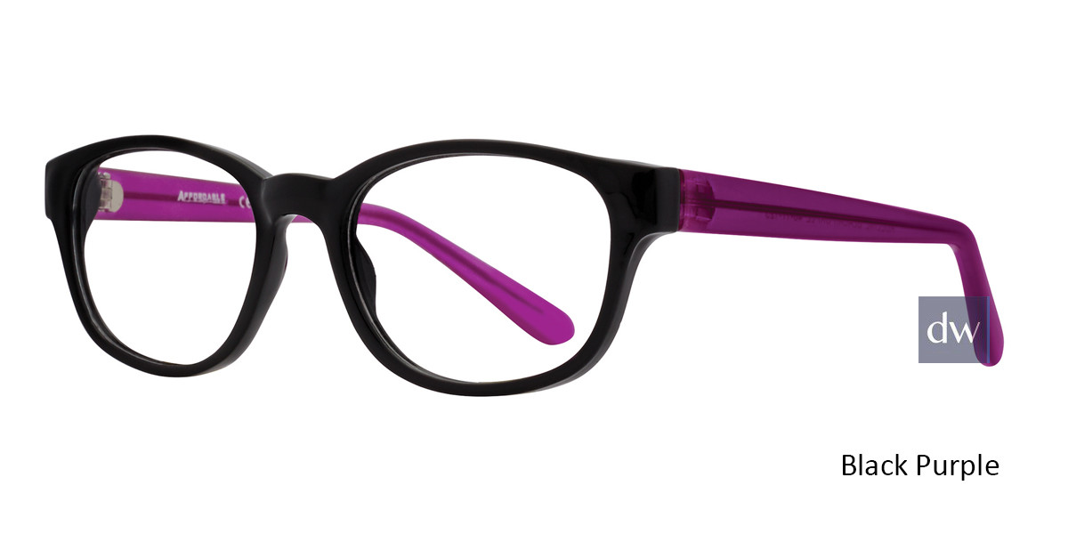 Black Purple Affordable Designs Adeline Eyeglasses