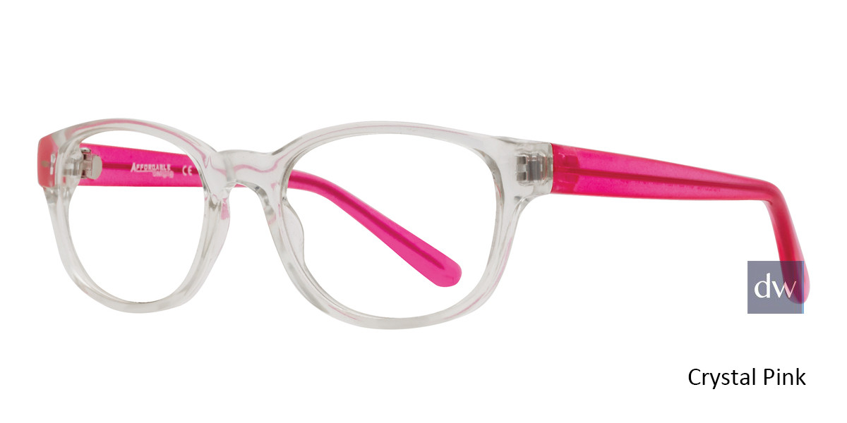 Crystal Pink Affordable Designs Adeline Eyeglasses