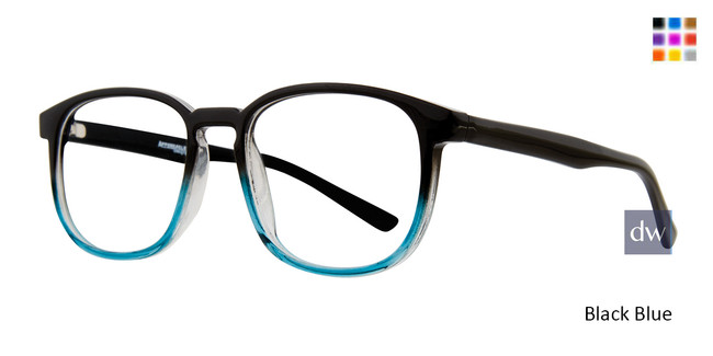 Black Blue Affordable Designs Campbell Eyeglasses