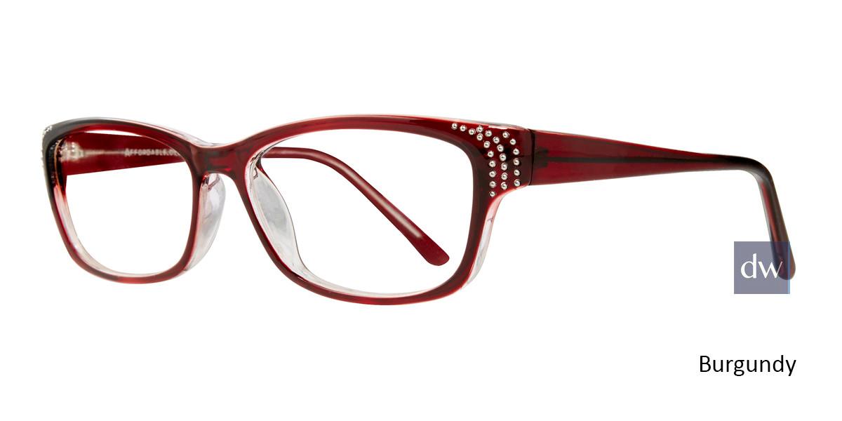 Burgundy Affordable Designs Celia Eyeglasses