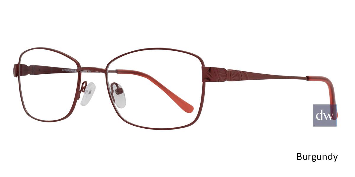 Burgundy Affordable Designs Cyd Eyeglasses