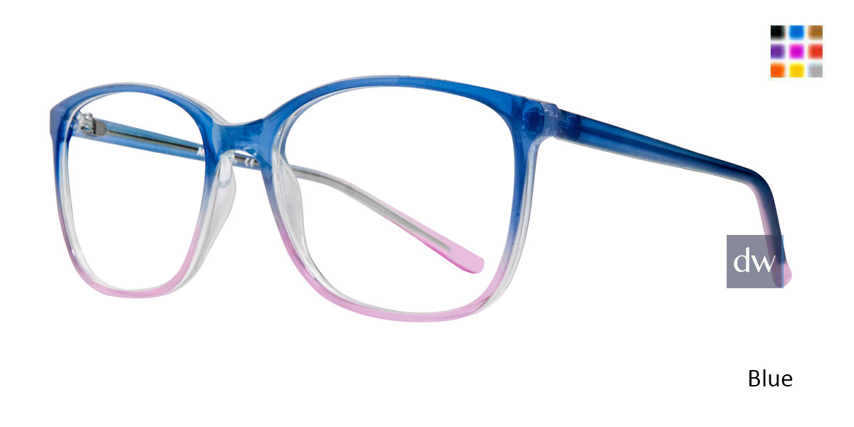 Blue Affordable Designs Fay Eyeglasses