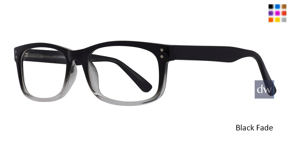 Black Fade Affordable Designs Finn Eyeglasses