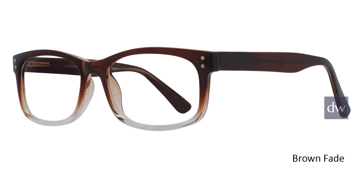 Brown Fade Affordable Designs Finn Eyeglasses