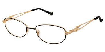 Black/Gold Tura R552 Eyeglasses.