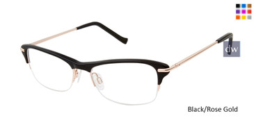 Black/Rose Gold Tura R554 Eyeglasses.