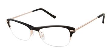 Black/Rose Gold Tura R555 Eyeglasses