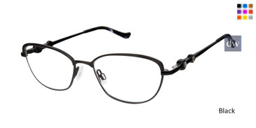 Black Tura R558 Eyeglasses.