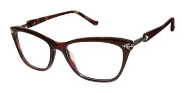 Burgundy Tura R560 Eyeglasses.