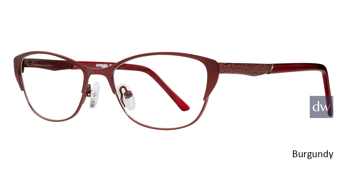 Burgundy Affordable Designs Jenelle Eyeglasses