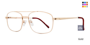 Gold Affordable Designs Larry Eyeglasses