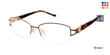 Brown Tura R565 Eyeglasses.