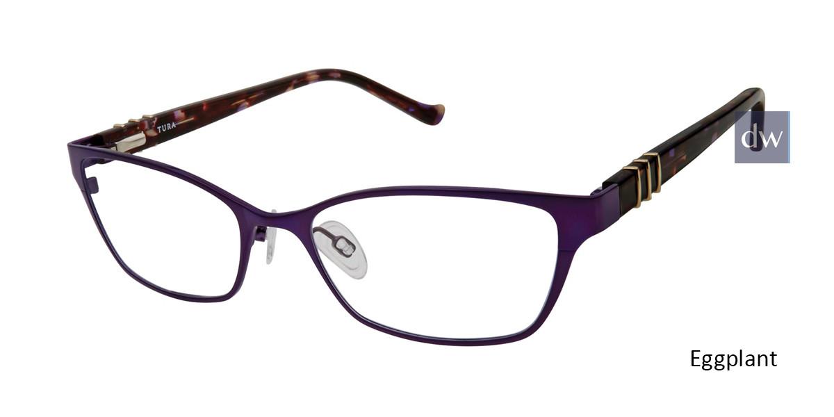 Eggplant Tura R566 Eyeglasses.