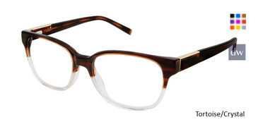 Tortoise/Crystal Kate Yong For Tura K323 Eyeglasses.