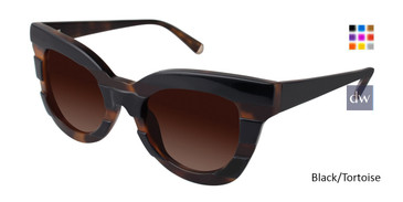 Black/Tortoise Kate Yong For Tura K514 Sunglasses.