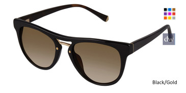 Black/Gold Kate Yong For Tura K524 Sunglasses.