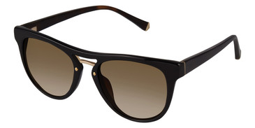 Black/Gold Kate Yong For Tura K524 Sunglasses.