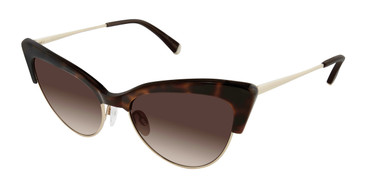 Tortoise/Gold Kate Young For Tura K529 Sunglasses.
