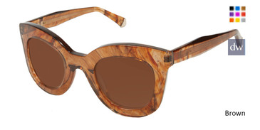 Brown Kate Yong For Tura K533 Sunglasses.
