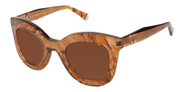 Brown Kate Young For Tura K533 Sunglasses.