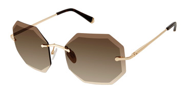 Brown/Gold Kate Young For Tura K541 Sunglasses.
