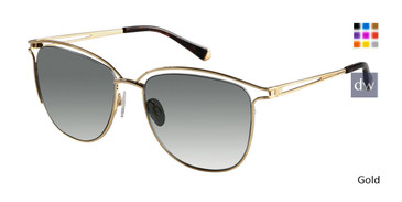 Gold Kate Yong For Tura K542 Sunglasses