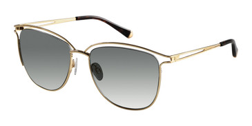 Gold Kate Young For Tura K542 Sunglasses.