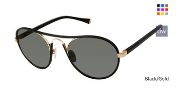 Black/Gold Kate Yong For Tura K543 Sunglasses.