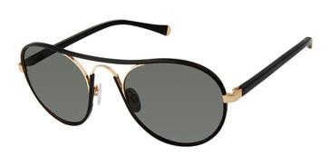 Black/Gold Kate Yong For Tura K543 Sunglasses.