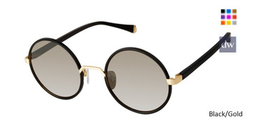 Black/Gold Kate Yong For Tura K544 Sunglasses.