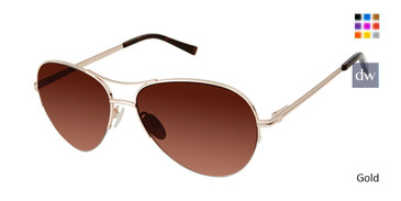 Gold Kate Yong For Tura K700 Sunglasses.