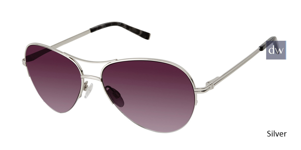 Silver Kate Yong For Tura K700 Sunglasses.