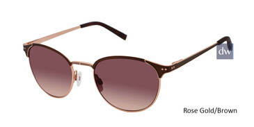 Rose Gold/Brown Kate Yong For Tura K701 Sunglasses.