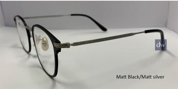 Matt Black/Matt Silver Zupa Ztar Zz8004B Eyeglasses.