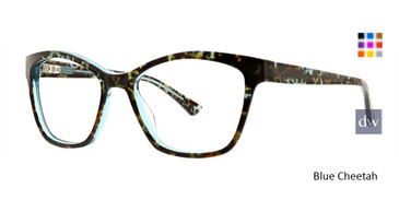 Blue Cheetah Xoxo Caracas Eyeglasses.