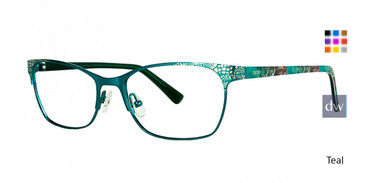 Teal Xoxo Milan Eyeglasses.