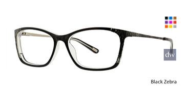 Black Zebra Xoxo Monterey Eyeglasses.