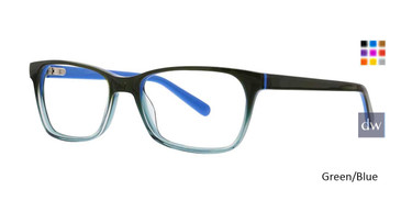 Green/Blue Xoxo Portico Eyeglasses.