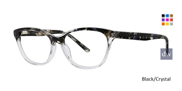 Black/Crystal Xoxo Silves Eyeglasses.