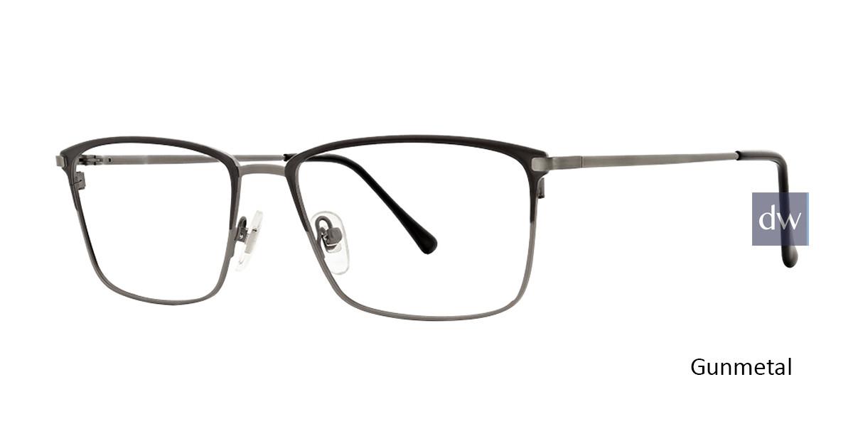 Gunmetal Argyleculture Adderley Eyeglasses.