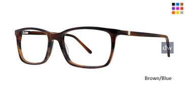 Brown/Blue Argyleculture Bechet Eyeglasses.