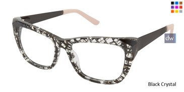 L.A.M.B. LA032 Eyeglasses  Black Crystal