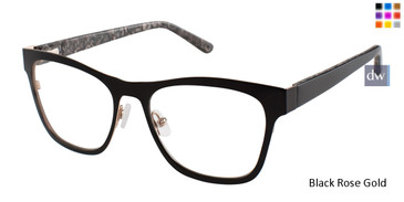 L.A.M.B. LA036 Eyeglasses Black Rose Gold