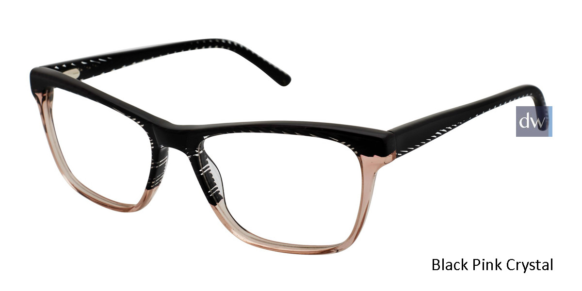 Black Pink Crystal L.A.M.B. FOLEY - LA039 Eyeglasses.