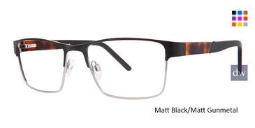 Matt Black/Matt Gunmetal Vivid 400 Eyeglasses.
