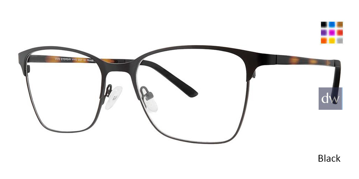 Matt Black Vivid 2027 Eyeglasses.