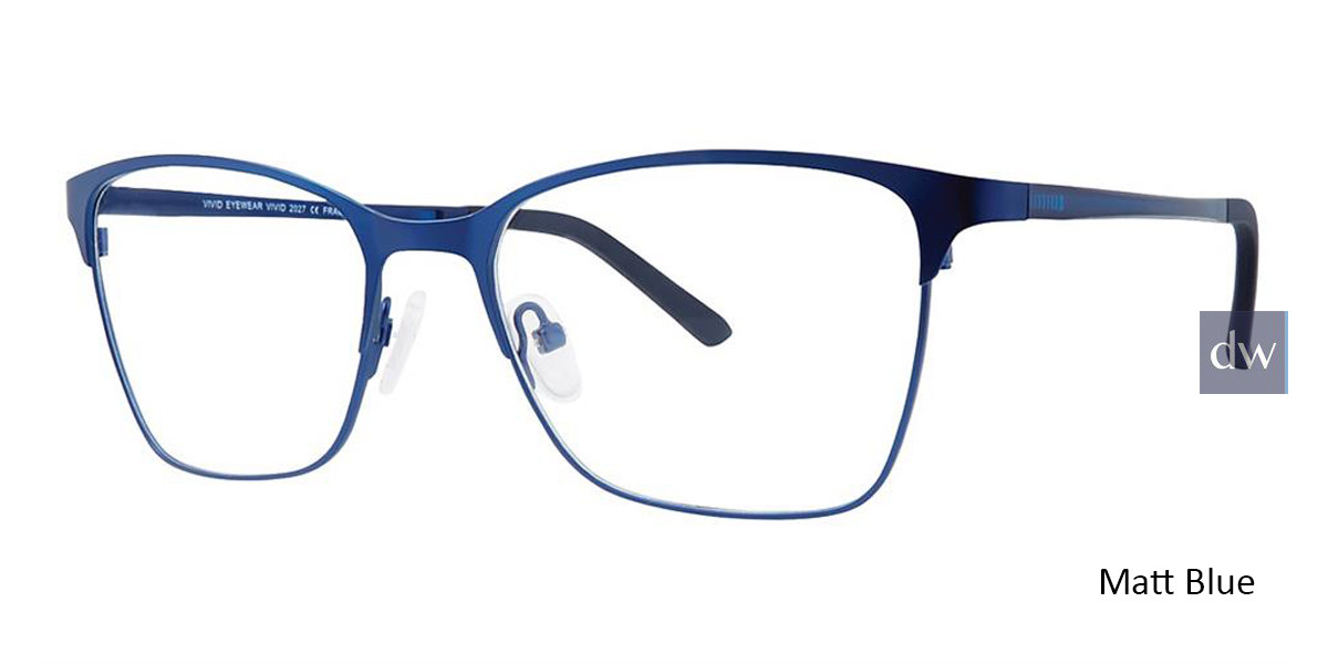 Matt Blue Vivid 2027 Eyeglasses.