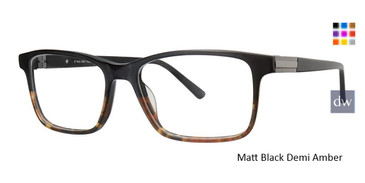 Matt Black Demi Amber Vivid Big and Tall 17 Eyeglasses.