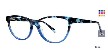 Blue Vivid Ecru Simone Eyeglasses..